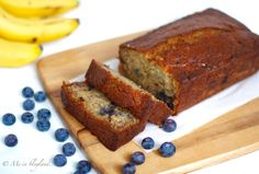This blueberry banana bread is moist, light and chock full of blueberry and banana flavor. The crust has gorgeous deep brown color. The crumb is airy, yet feels rich and very moist. And to add to it, the texture of this bread gets better a day or two later!