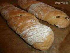 Ciabatta s olivami a tymianom - Recept Bread And Pastries, Ciabatta, Pizza, Food, Meal, Essen, Hoods, Meals, Eten