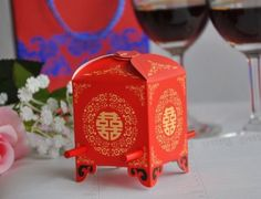 100PCS-Chinese-Flower-Jiao-Wedding-Party-Favor-Gift-Happiness-Boxes-Candy-Boxes