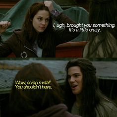 New Moon ~ Bella and Jacob Twilight Quotes, Twilight Pictures, Twilight Series, Twilight Movie, Vampire Twilight, Twilight New Moon, The Cullen, Breaking Dawn Part 2, Strong Love