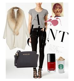"""""""Talk talk talk time :-)"""" by subaba on Polyvore featuring Joe's Jeans, Sally Lapointe, MICHAEL Michael Kors and Chanel"""