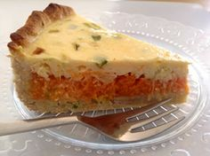 Squash carrot and corn quiché Sin Gluten, Gluten Free, Squash, Carrots, Cheesecake, Food And Drink, Healthy Recipes, Healthy Food, Banana