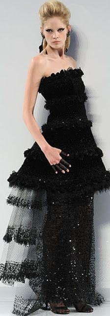 Chanel Haute Couture dress| Chanel wedding theme ideas| Black wedding gown