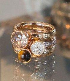 High End Jewelry Designers Pandora Jewelry, Jewelry Rings, Beautiful Necklaces, Beautiful Rings, Funky Jewelry, Brighton Jewelry, Schmuck Design, Luxury Jewelry, Fashion Rings
