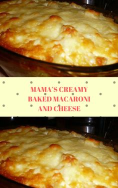 MAMA'S CREAMY BAKED MACARONI AND CHEESE Baked Macaroni, Macaroni Cheese, Mac Cheese, Paula Deen, Quinoa, Pasta Dishes, Soul Food, Cooking Recipes, Cheese Recipes