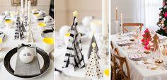 Mesas modernas y con color para Navidad - http://www.decoora.com/mesas-modernas-y-con-color-para-navidad.html