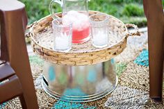 Easiest Outdoor Entertaining Table - ready when you need it!
