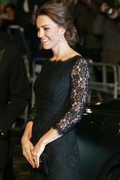Vestido de encaje Kate Middleton 2014