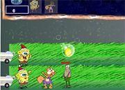 Spongebob Fights with Fish