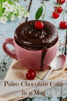 Paleo Chocolate Mug Cake #glutenfree #grainfree #paleo
