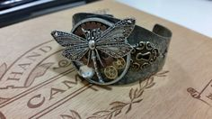 Unique handmade jewelry in SALE now! All Jewelry discounted up to 50% off till cyber monday! https://www.etsy.com/listing/192194368/dragonfly-steampunk-victorian-cuff