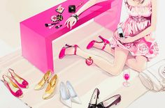 Find images and videos about pink, art and anime on We Heart It - the app to get lost in what you love.