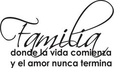 Spanish Wall Saying Quotes- Familia Donde La Vida Comienza Wall Quote-home & Art Wall Decor - - Amazon.com