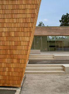Outdoor Recreation Center, Grafenwöhr, Architekt Karlheins Beer, 2012, US Armee, Ansicht, Schindel