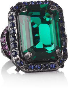 LANVIN PARIS Tutti Frutti Swarovski Crystal Ring