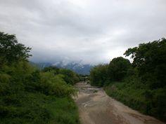 菰野吉沢地区 吉沢橋より 雨あがり   平成24年6月9日撮影