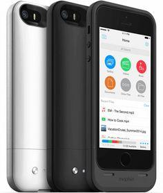 Empresa lança case que dobra a bateria e aumenta a capacidade de armazenamento de iPhones 5/5s  A fabricante mophie é uma das mais reconhecidas quando o assunto é case com bateria interna para aumentar a autonomia de iPhones. Hoje, na CES 2014, ela anunciou uma nova linha, a Space Pack.  Além de dobrar a bateria de iPhones 5/5, ela também aumenta a capacidade de armazenamento dos aparelhos com opções de 16GB e 32GB de espaço — o que somados aos 16/32/64GB.