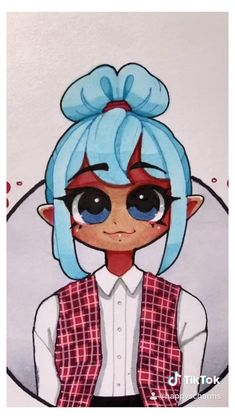 Blue hair 90's fashion anime girl drawing #ship #drawing #sketches #shipdrawingsketches Girl Drawing Sketches, Anime Girl Drawings, Cool Art Drawings, Kawaii Drawings, Cartoon Drawings, Cute Cartoon Girl Drawing, Girl Hair Drawing, Hair Drawings, Cute Art Styles