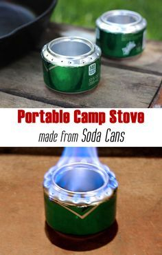 This is so handy for emergencies while camping! Turn a soda can into a portable camp stove in 12 steps! Instant warmth and light. This can be so useful for camping, will definitely give it a try. Camping Diy, Winter Camping, Camping Stove, Camping Survival, Outdoor Survival, Survival Prepping, Emergency Preparedness, Survival Gear, Survival Skills