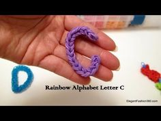 ▶ How to make alphabet Letter C on rainbow loom - YouTube