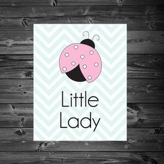 Little Lady Bug - Printable 8x10 Wall Art by KatiePaigeDesign