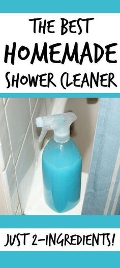 Dawn and White Vinegar - Best Homemade Shower Cleaner! This homemade shower cleaner recipe is a snap to make & is super effective at ridding your shower of hard water stains and soap scum with almost no effort! Deep Cleaning Tips, Household Cleaning Tips, Toilet Cleaning, House Cleaning Tips, Natural Cleaning Products, Spring Cleaning, Household Cleaners, Cleaning A Shower, Green Cleaning Recipes