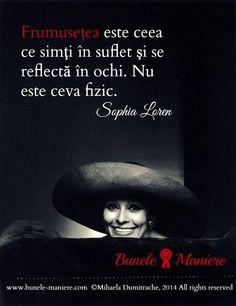 Ce este #frumusetea? #SophiaLoren #Citate