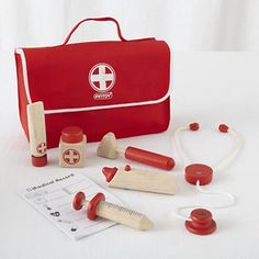 Kids's Imaginary Toys: Pretend Doctor Kit in Toddler Gifts $25- $50.... @Katie Hrubec Moore I think PK would love this!