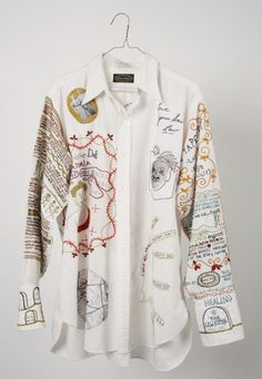 Following the Thread, Hand-Embroidery, Mixed Media by Roz Ritter, 2009