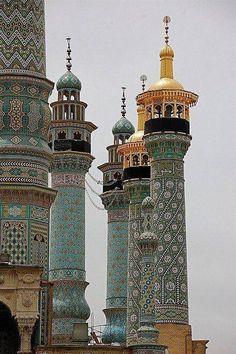 Minarets in Qon,Iran