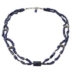 NOVICA Lapis Lazuli .925 Sterling Silver Beaded Necklace 'True to India'. An original NOVICA fair trade product in association with National Geographic. Includes an official NOVICA Story Card certifying quality & authenticity. NOVICA works with Narayani to craft this item. Includes an original NOVICA jewelry pouch to keep for yourself or give as a gift. A keepsake treasure designed to be loved for years to come.
