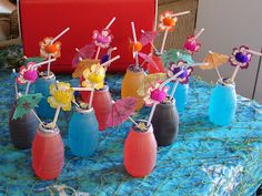 Kids drinks. For more party ideas visit Get The Party Started at www.getthepartystarted.etsy.com  @Sandie Wilson Wilson Tijerina we def need those umbrellas