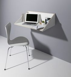 Twofold desk is a modern wall mounted piece and shelf in one, which is ideal for any small space