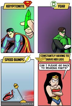 The Greatest Weaknesses of DC Comic Book Superheroes by Dorkly