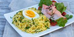 Myllyn Paras Capellinikeräsalaatti - Helposti hyvää! #kasvisruoat #pastaresepti #lisukesalaatti
