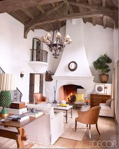 The Ojai house now owned by Reese, decorated by Kristen Buckingham, the great living room