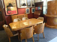 Take a look at these Antique Dining Tables available, Antique Dining Tables from British dealers listed on the UK's best Antiques directory site. Antique Dining Tables, Furniture Dining Table, Art Deco Furniture, Table And Chairs, Antique Furniture, Dining Suites, Birdseye Maple, Art Deco Design, Upholstery