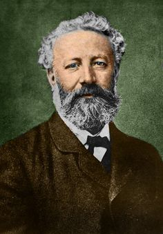 "Jules Verne, ca.1878. According to Verne's grandson (Jean Jules-Verne) in ""Jules Verne: a biography"" (1976), Verne is about age 50 in this photo by Nadar. The black and white photo by Nadar has been colourized: image by ©Stefano Bianchetti/ Corbis"