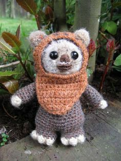 Wicket the Ewok Crochet Pattern.  Pic is for pattern found here:  http://www.ravelry.com/patterns/library/wicket-the-ewok