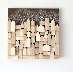 Wood Walls Items similar to Wood Wall Sculpture - One of a Kind Original Art on Etsy Into The Woods, House In The Woods, Wooden Art, Wood Wall Art, Wood Animals, Wood Scraps, House Wall, Home And Deco, Wall Sculptures