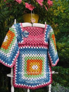Magic Crochet: Tunic and hat for girl with tips to make the tunic