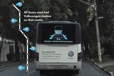 VW Gets Buses to Tell Cars to Keep Their Distance - Interactive (video) - Creativity Online Creativity Online, Volkswagen, Cruise Control, Buses, To Tell, Distance, Cars, Cool Stuff, Creative