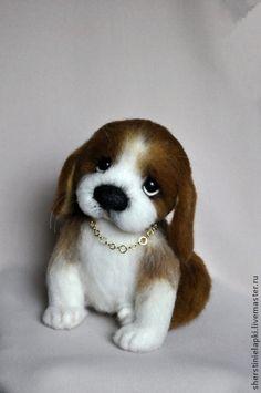 Wool Needle Felting, Needle Felted Animals, Felt Animals, Felt Dogs, Fabric Toys, Fluffy Cat, Big Eyes, Crochet Dolls, Handmade Toys