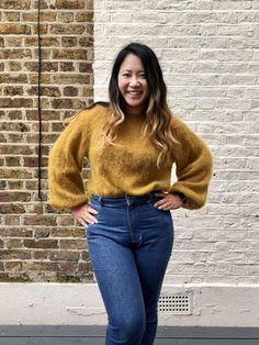 The Cherry Cocktail Blouse // Alice Hammer - Self Assembly Required Knitting Projects, Knitting Patterns, Spring Weather, Yarn Shop, New Crafts, Stockinette, Mom Jeans, Cherry, Alice