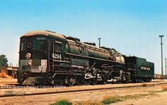 "One of the Southern Pacific's famous ""Cab Forwards,"" Class AC-12 4-8-8-2 #4294. This is the only surviving example of these unique locomotives; it now sits on display at the California State Railroad Museum in Sacramento. Postcard from the Richard Anderson Collection"