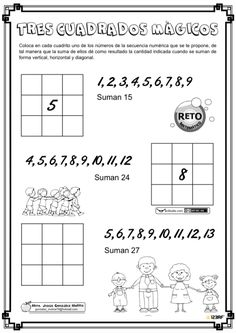 Math For Kids, Fun Math, Preschool Activities, Winning Lottery Numbers, Math Exercises, Maths Solutions, Past Papers, Spanish Words, Mathematics
