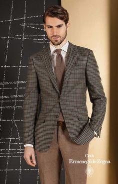 Colectia Zenonni din tesaturi Cloth Ermenegildo Zegna Sacou: Trofeo Cashmere 95% Wool – 5% Cashmere 290 gr. Pantalon: Cotton 100% 350gr.