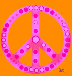 ✌Peace Sign #cPinks #cOrange #Hippilicious __[Peace sign Art by KN]