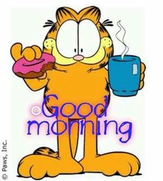 Garfield Good Morning Garfield Monday, Garfield Cartoon, Garfield And Odie, Garfield Comics, Good Morning Funny, Good Morning Picture, Morning Pictures, Good Morning Wishes, Happy Pictures