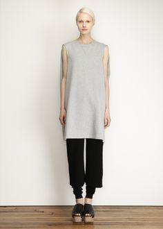 5dacc1c651 MM6 Maison Margiela Caped Dress (Grey Melange) Cape Dress